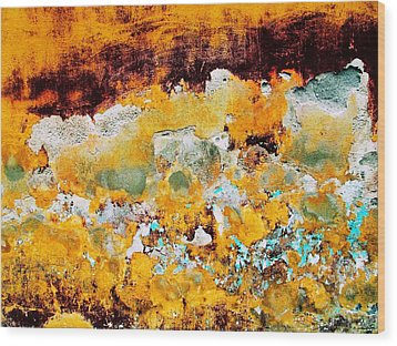 Wood Print featuring the digital art Wall Abstract 28 by Maria Huntley