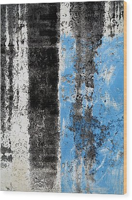 Wood Print featuring the digital art Wall Abstract 34 by Maria Huntley