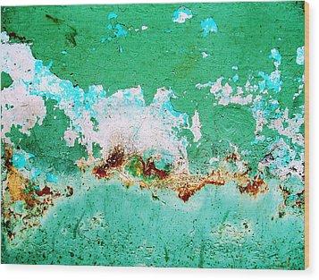 Wall Abstract 77 Wood Print by Maria Huntley