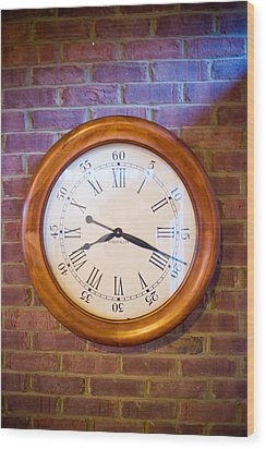 Wall Clock 1 Wood Print by Douglas Barnett