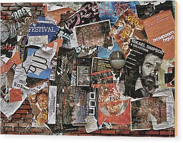 Wall Of Babel Wood Print by Odd Jeppesen