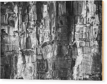 Wood Print featuring the photograph Wall Of Rock by Miroslava Jurcik