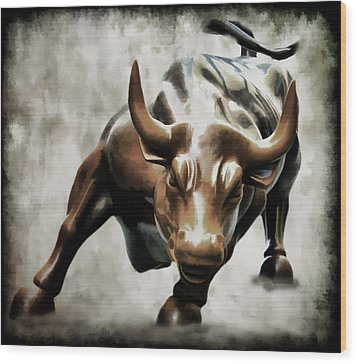 Wall Street Bull II Wood Print
