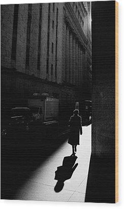 Wall Street In New York City Wood Print by Ilker Goksen
