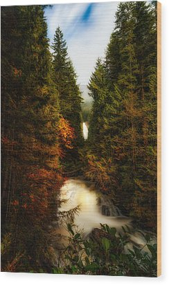 Wallace Fall North Fork Wood Print