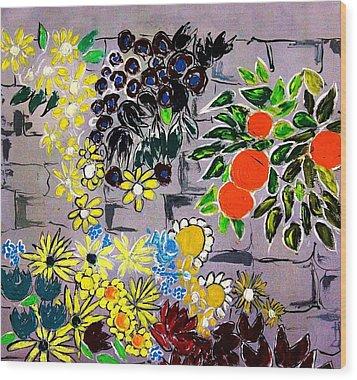 Wallflowers Wood Print