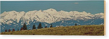 Wallowa Mountains Oregon Wood Print