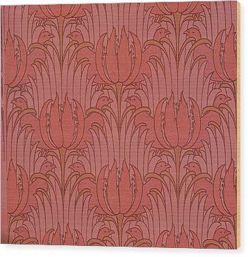 Wallpaper Design Wood Print by Victorian Voysey