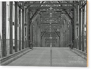 Wood Print featuring the photograph Walnut Street Bridge by Geraldine DeBoer
