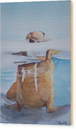 Walrus Wood Print