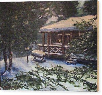Walsh Cabin On Cranberry Lake Wood Print