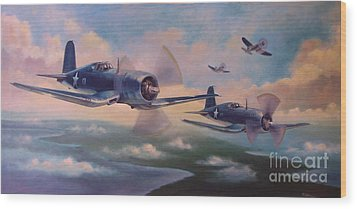 Walsh's Flight Wood Print by Stephen Roberson
