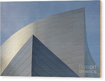 Walt Disney Concert Hall 3 Wood Print by Bob Christopher