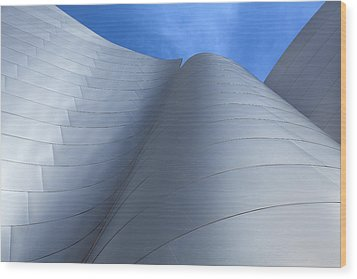 Walt Disney Concert Hall Architecture Los Angeles California Abstract Wood Print