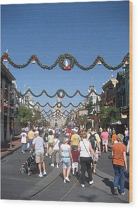 Walt Disney World Resort - Magic Kingdom - 1212128 Wood Print by DC Photographer