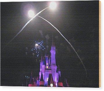 Walt Disney World Resort - Magic Kingdom - 121223 Wood Print by DC Photographer