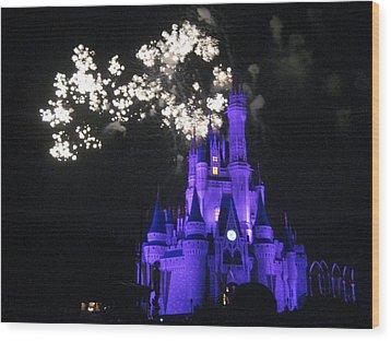 Walt Disney World Resort - Magic Kingdom - 121244 Wood Print by DC Photographer
