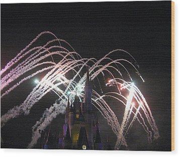 Walt Disney World Resort - Magic Kingdom - 121263 Wood Print by DC Photographer