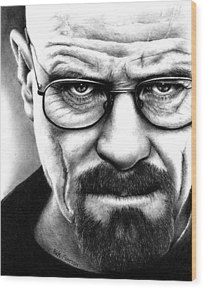 Walter White Breaking Bad Wood Print by Rick Fortson