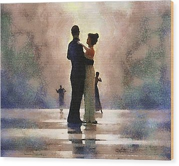 Waltz Like A Mirage Wood Print