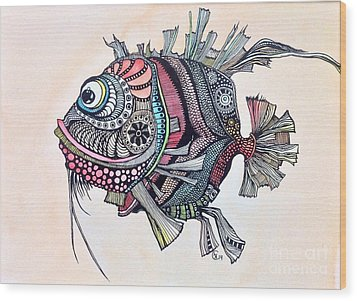 Wanda The Fish Wood Print