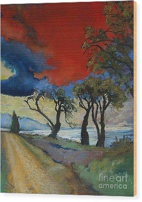Wander Where The Wind Blows Wood Print by Robin Maria Pedrero