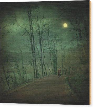 Wanderer Wood Print by Taylan Apukovska