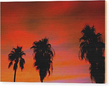 Wang's Sunsets 3 Wood Print