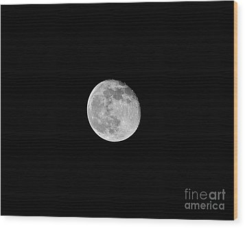 Waning Flower Moon Wood Print by Al Powell Photography USA