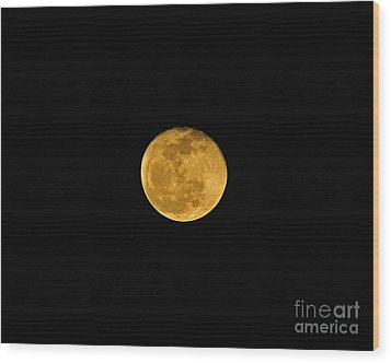 Waning Passover Moon Wood Print by Al Powell Photography USA