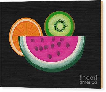 Want A Slice? Wood Print by Christine Fournier