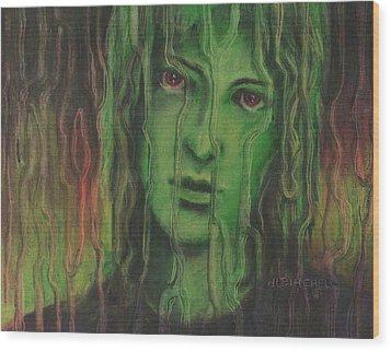 Wanting In Wood Print by Debra Lynn Birchell