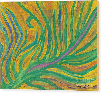 Wanting To Fly Wood Print by Denise Hoag