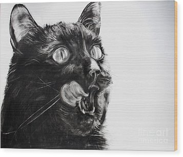 Wanting Wood Print by Valerie  Bruzzi