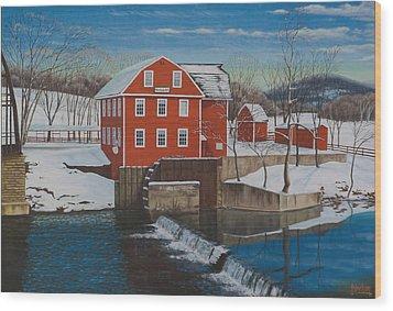 War Eagle Mill Wood Print by Tim Birlson