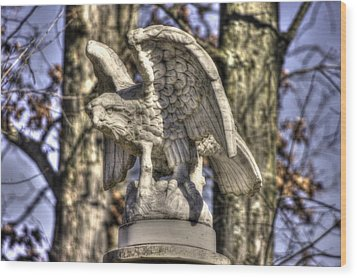 War Eagles - Vermont Company F 1st U. S. Sharpshooters-a1 Pitzer Woods Gettysburg Wood Print by Michael Mazaika