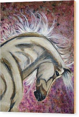 War Horse Wood Print