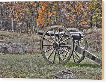 Wood Print featuring the photograph War Thunder - 4th New York Independent Battery Crawford Avenue Gettysburg by Michael Mazaika