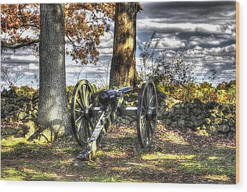 Wood Print featuring the photograph War Thunder - Lane's Battalion Ross's Battery-b1 West Confederate Ave Gettysburg by Michael Mazaika