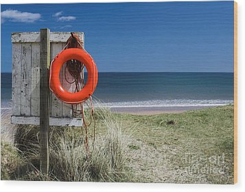 Wood Print featuring the photograph Warkworth Beach Northumberland Coast by Les Bell