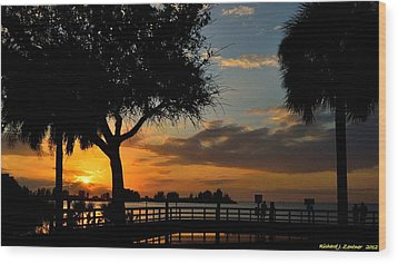 Wood Print featuring the photograph Warm Glowing Sunset by Richard Zentner