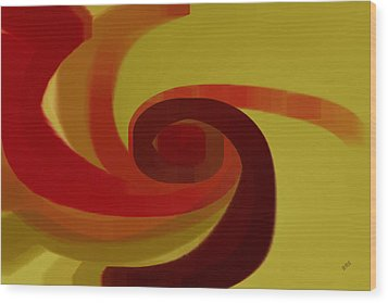 Warm Swirl Wood Print by Ben and Raisa Gertsberg