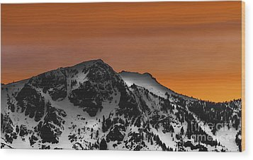 Warm Winter Wood Print by Mitch Shindelbower