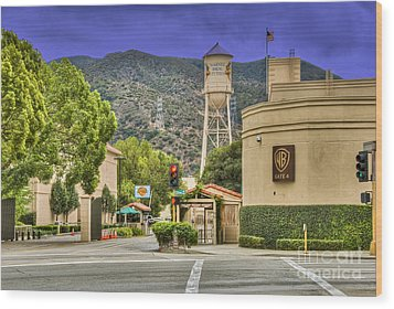Warner Bros.  Burbank Ca  Wood Print by David Zanzinger