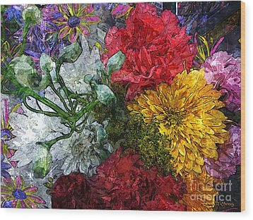 Warning Flowers At Large Wood Print by Joseph J Stevens