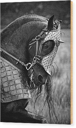 Warrior Horse Wood Print