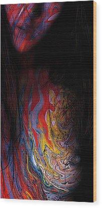 Warrior Of Love Wood Print by Steve K