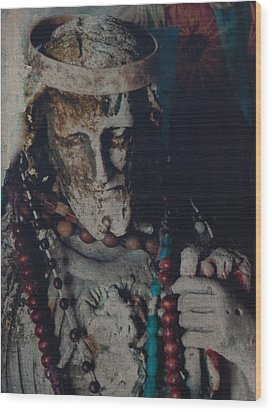 Wood Print featuring the mixed media Warrior Of The Spirit by Carla Woody