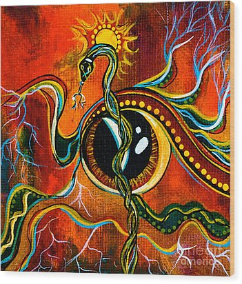 Warrior Spirit Eye Wood Print