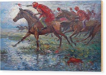 Warriors In Return Wood Print by Prosper Akeni